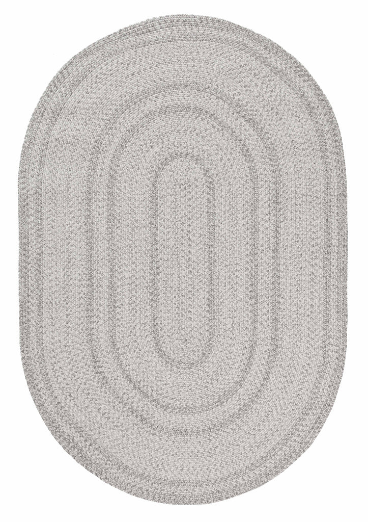 Mika Grey Braided Flatweave Oval Rug