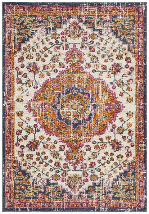 Miramas Multi Colour Traditional Medallion Rug