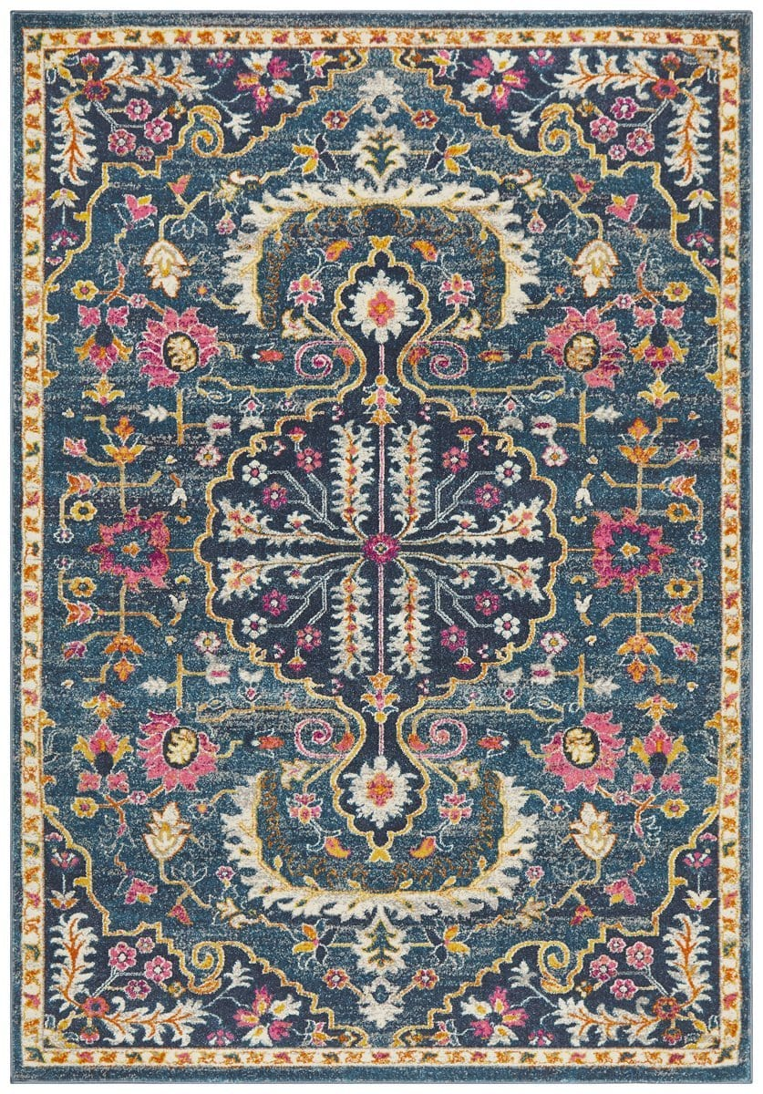 Montelimar Navy Traditional Medallion Rug