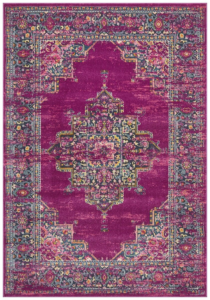 Montrouge Fuschia Traditional Medallion Rug