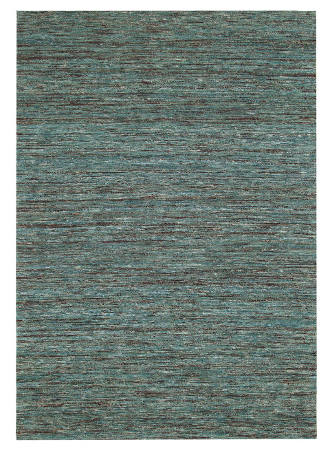 Nivala Teal & Brown Flat Weave Rug