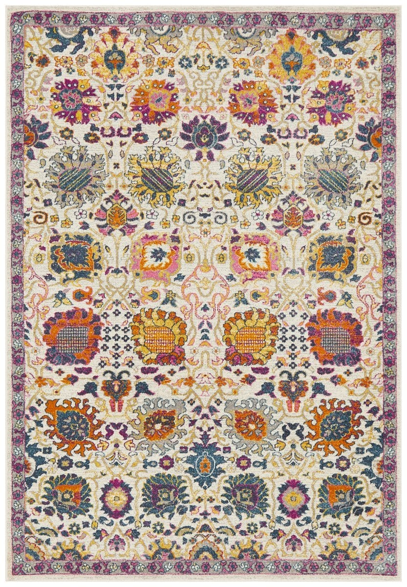Oullins Multi Colour Traditional Floral Rug