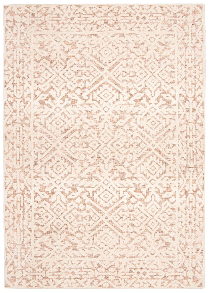 Paloma Peach and Ivory Tribal Patterned Rug