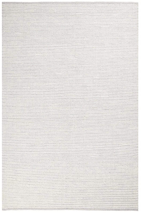 Pella Cream and Grey Textured Flatweave Rug