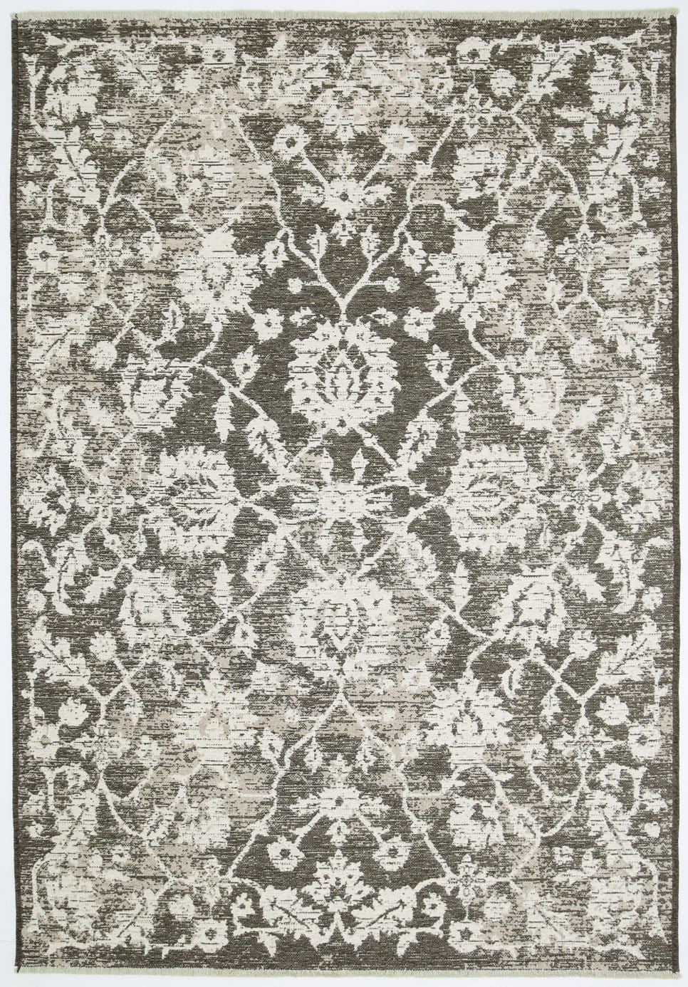 Pomona Beige and Grey Floral Transitional Reversible Rug