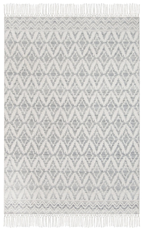 Rumi Grey and Ivory Transitional Tribal Rug