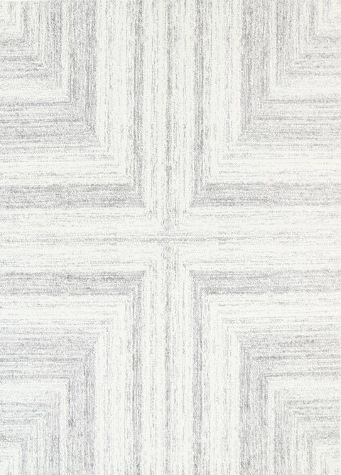 Sana Ivory and Grey Scandi Abstract Rug