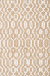 Saskia Beige and Ivory Indoor Outdoor PET Runner Rug