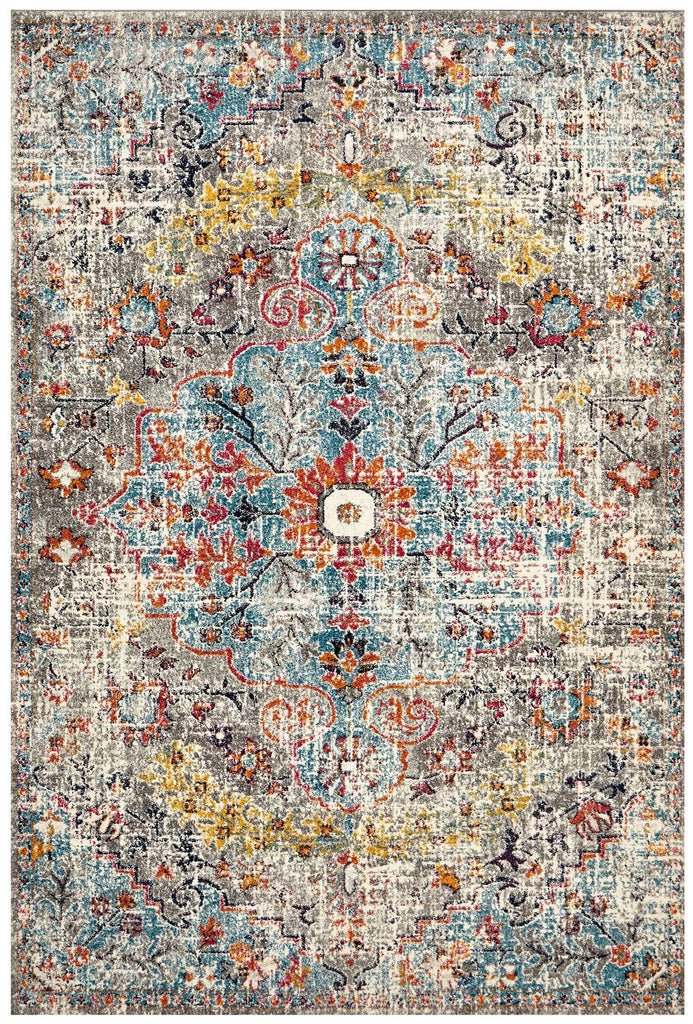 Shamkir Multi-Colour Traditional Floral Rug
