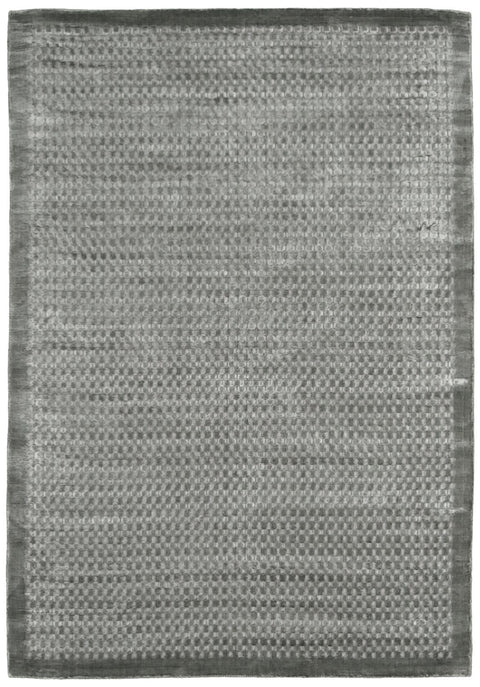 Sion Steel Grey Dot Bordered Rug