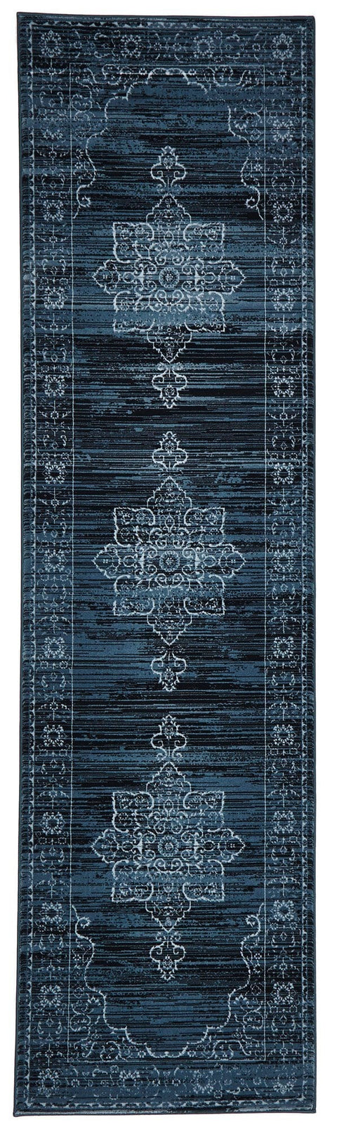 Soma Dark Blue Transitional Runner Rug