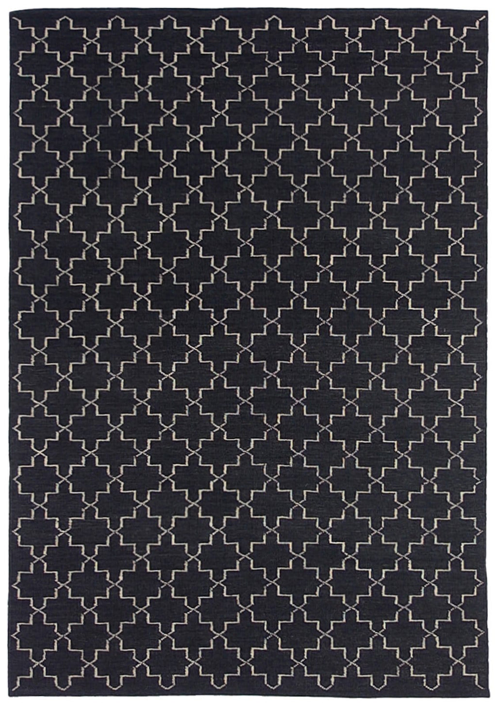 Souk Hand-Woven Black Moroccan Wool Rug