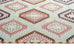 Suzie Pink and Green Pastel Tribal Print Rug