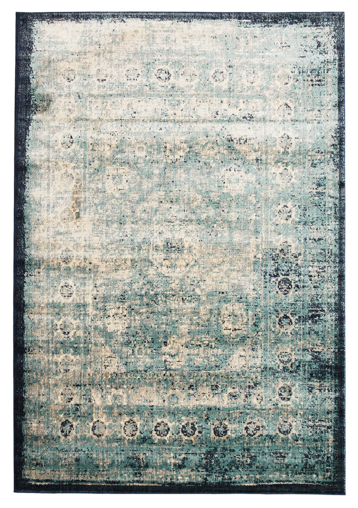 Tarfaya Green Blue Transitional Rug