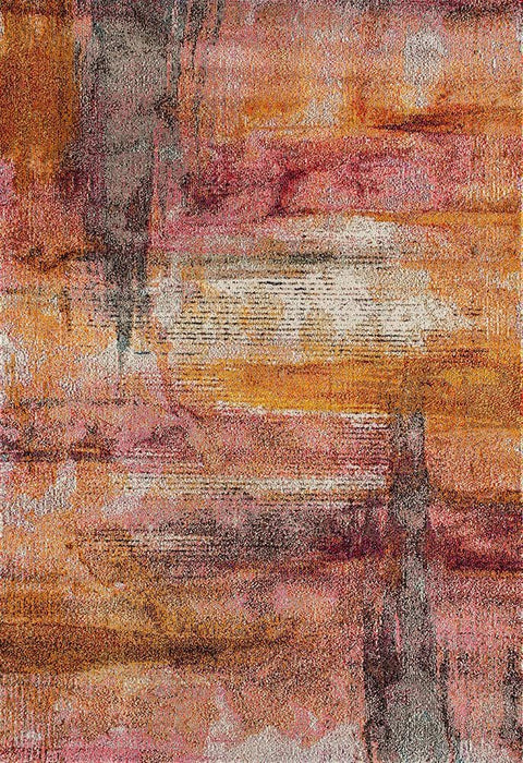 Tripoli Burnt Orange and Pink Transitional Rug