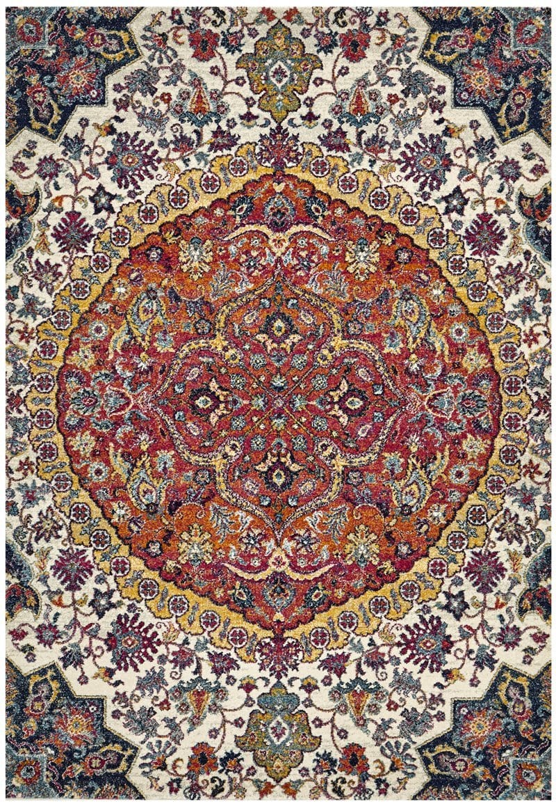 Valencia Floral Medallion Transitional Rug