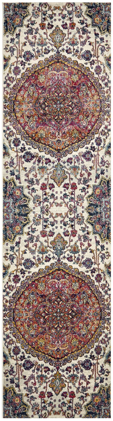 Valencia Floral Medallion Transitional Runner Rug