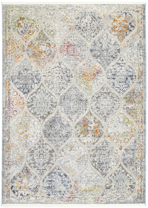 Vardenis Persian Style Grey Mutilcolour Faded Rug