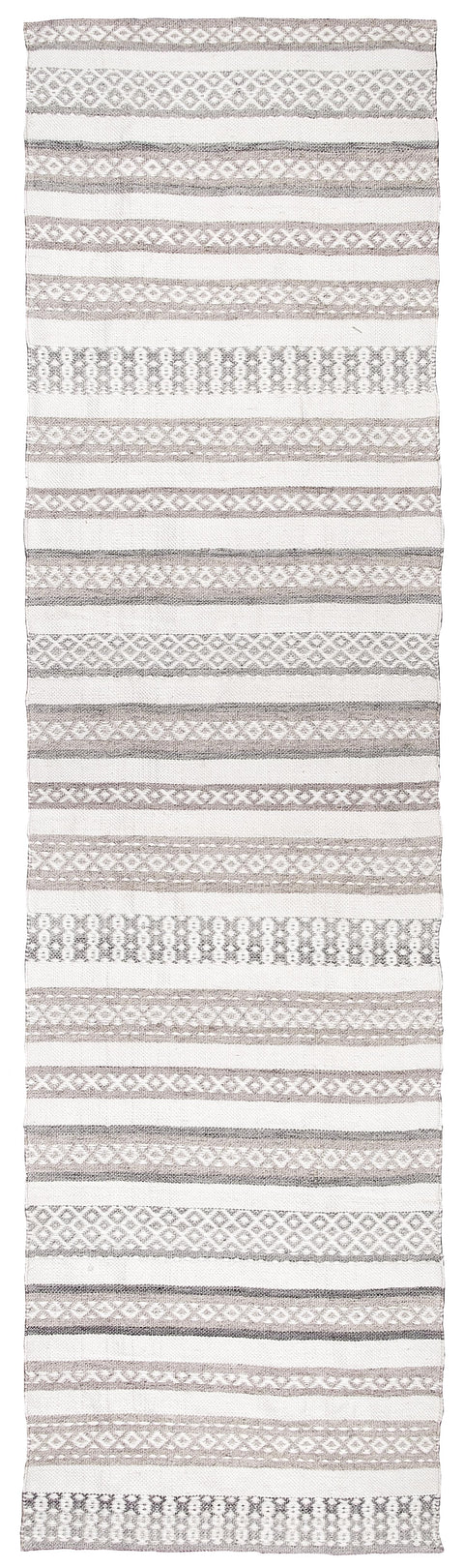 Violetta Beige & Grey Tribal Indoor Outdoor PET Runner Rug
