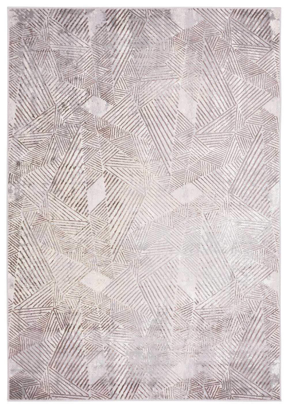 Zenia Brown Grey and Ivory Distressed Tribal Rug