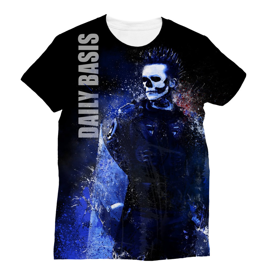 Tomorrow Never Comes (Blue Splatter) - T-Shirt