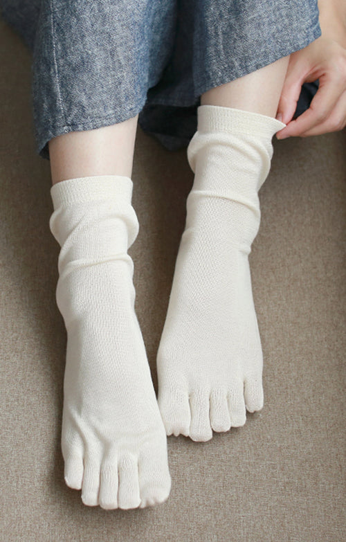 SILK TOE LINER SOCKS