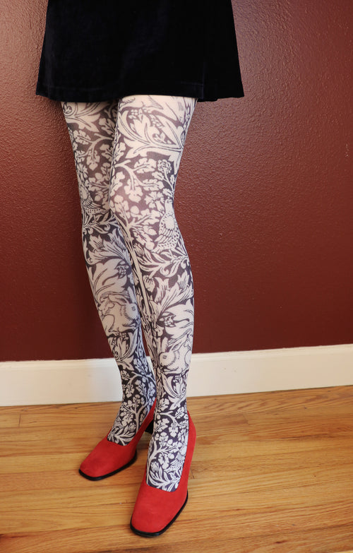 BUNNY BY WILLIAM MORRIS PRINTED TIGHTS