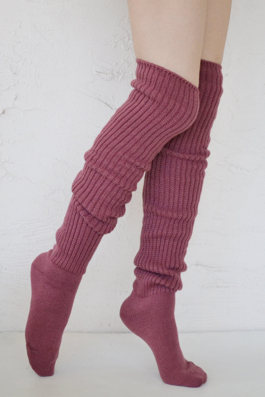 SCRUNCHY OVER THE KNEE SOCKS l Wool Socks l Boots Socks l Tabbisocks