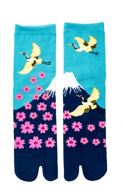 CRANE, MT.FUJI AND SAKURA TABI SOCKS