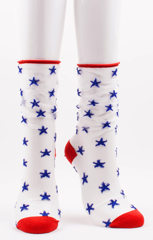 July 4th socks l Sheer america socks l Made in Japan