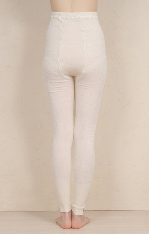 """Mother of Pearl"" ORGANIC HEMP RIBBED LEGGINGS"