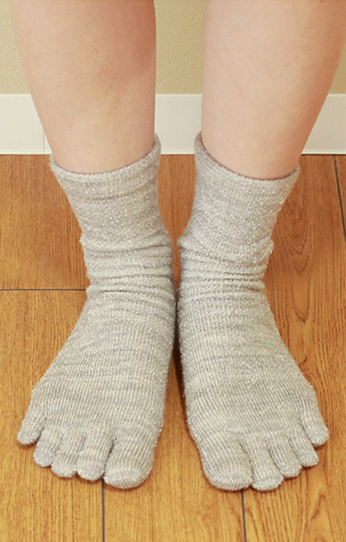 WOOL / SILK PILE TOE SOCKS l Made in JAPAN l NARASOCKS