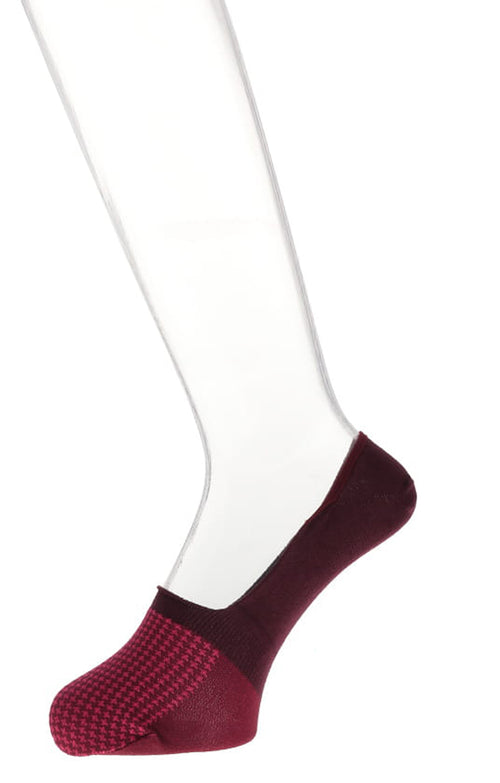 Hound's Tooth Italian Cotton Liner Socks