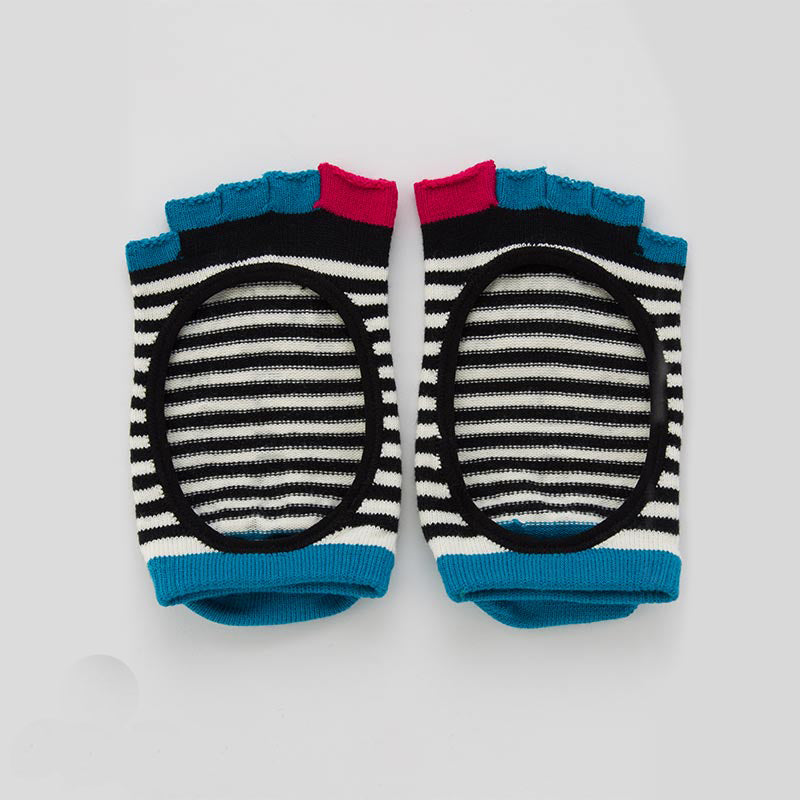 ORGANIC COTTON STRIPES OPEN TOE LINER SOCKS