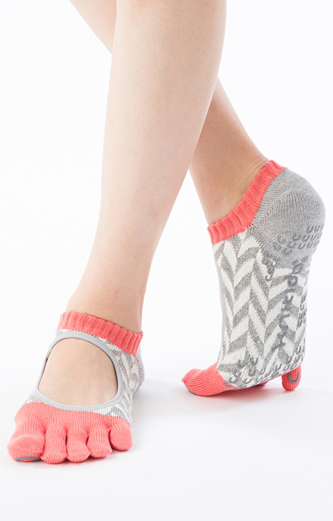 ORGANIC COTTON HERRINGBONE TOE LINER SOCKS