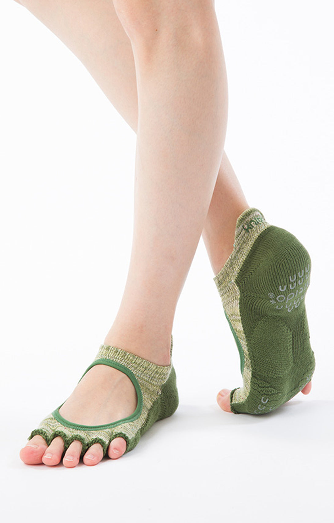 HEATHER OPEN TOE FOOTIE SOCKS *BETTER BALANCE*