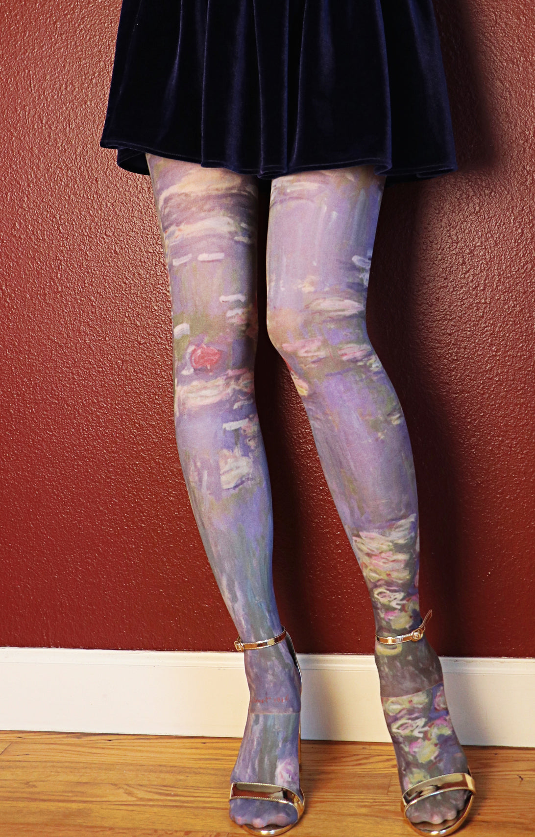 CLAUDE MONET l WATER LILIES PRINTED TIGHTS