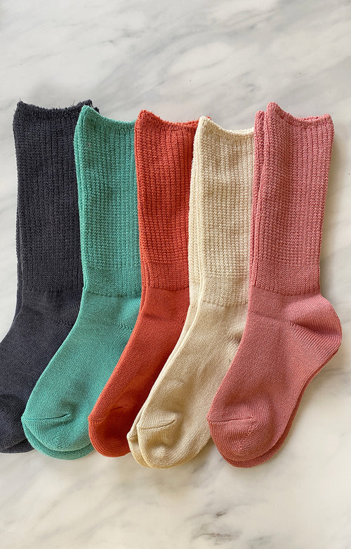 COTTON SCRUNCHY CREW  SOCKS