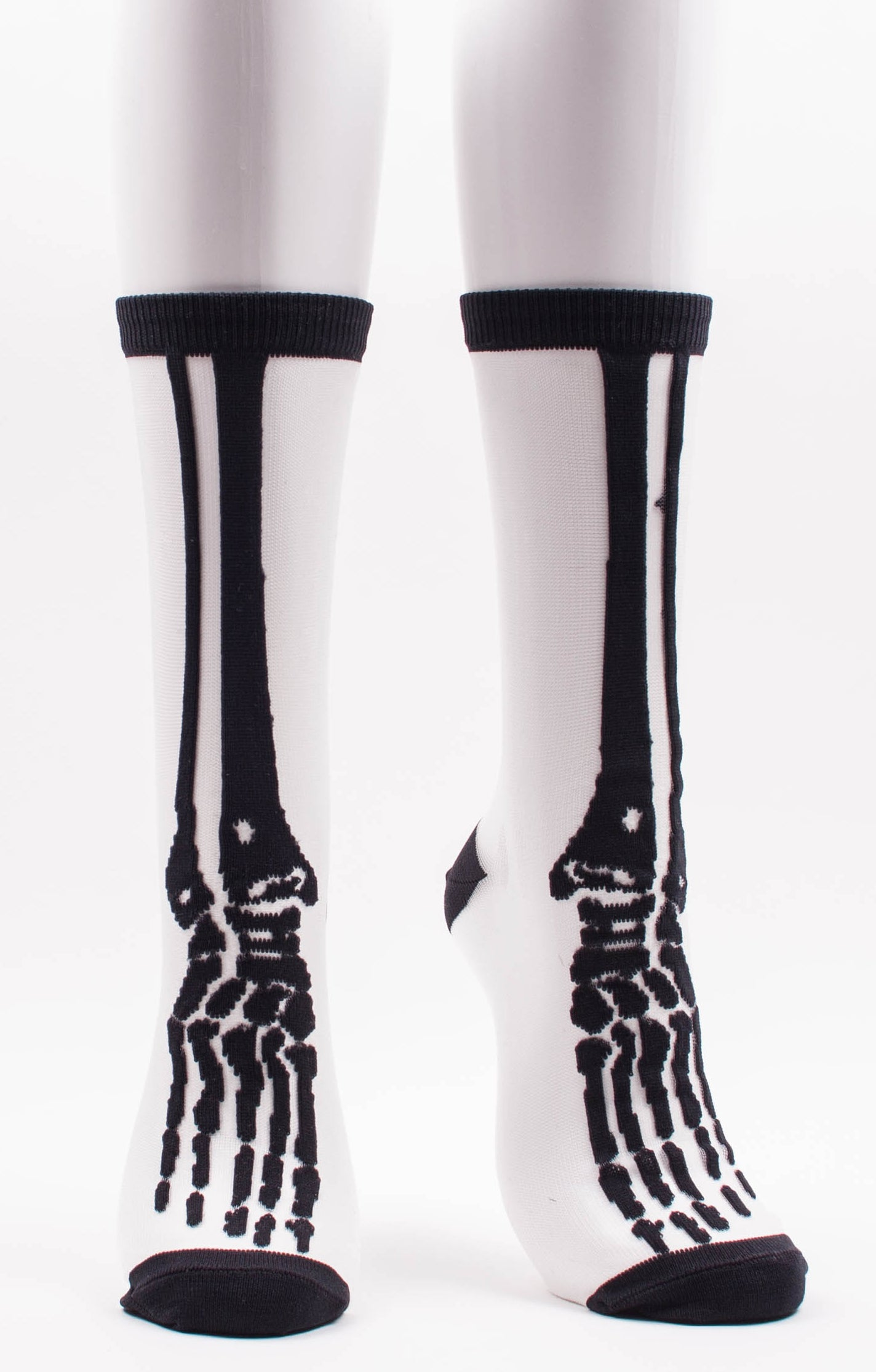 CLEAR SKELETON SHEER SOCKS