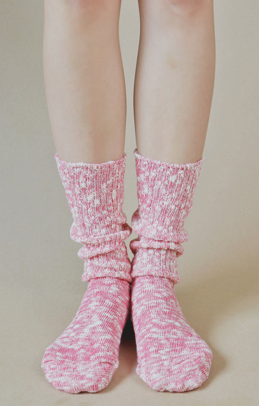 Organic Cotton Slub Crew Socks