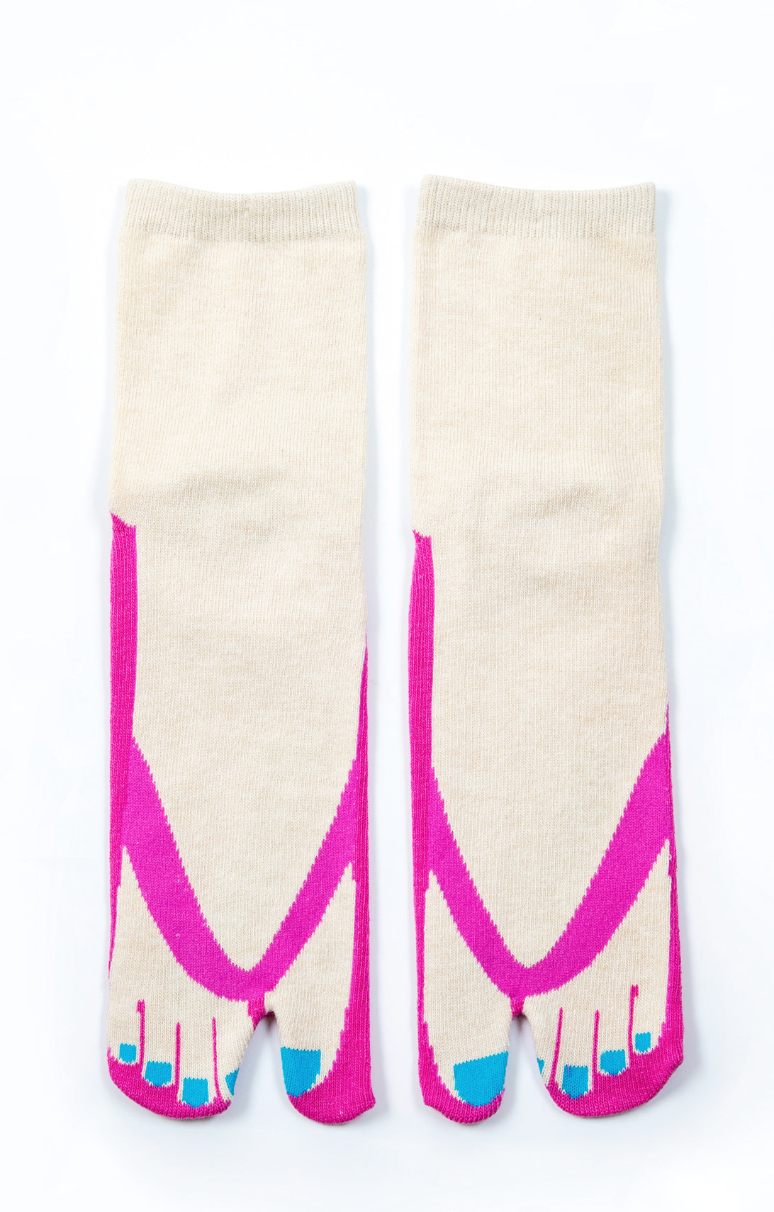 COLOR PEDICURE TABI SANDAL SOCKS