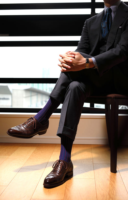 Shadow Ribbed Mid-Calf Socks
