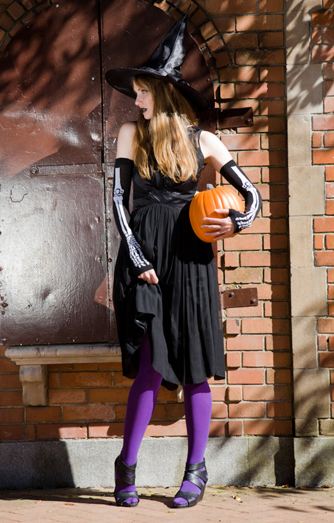HALLOWEEN PURPLE COLOR OPAQUE ZOKKI TIGHTS