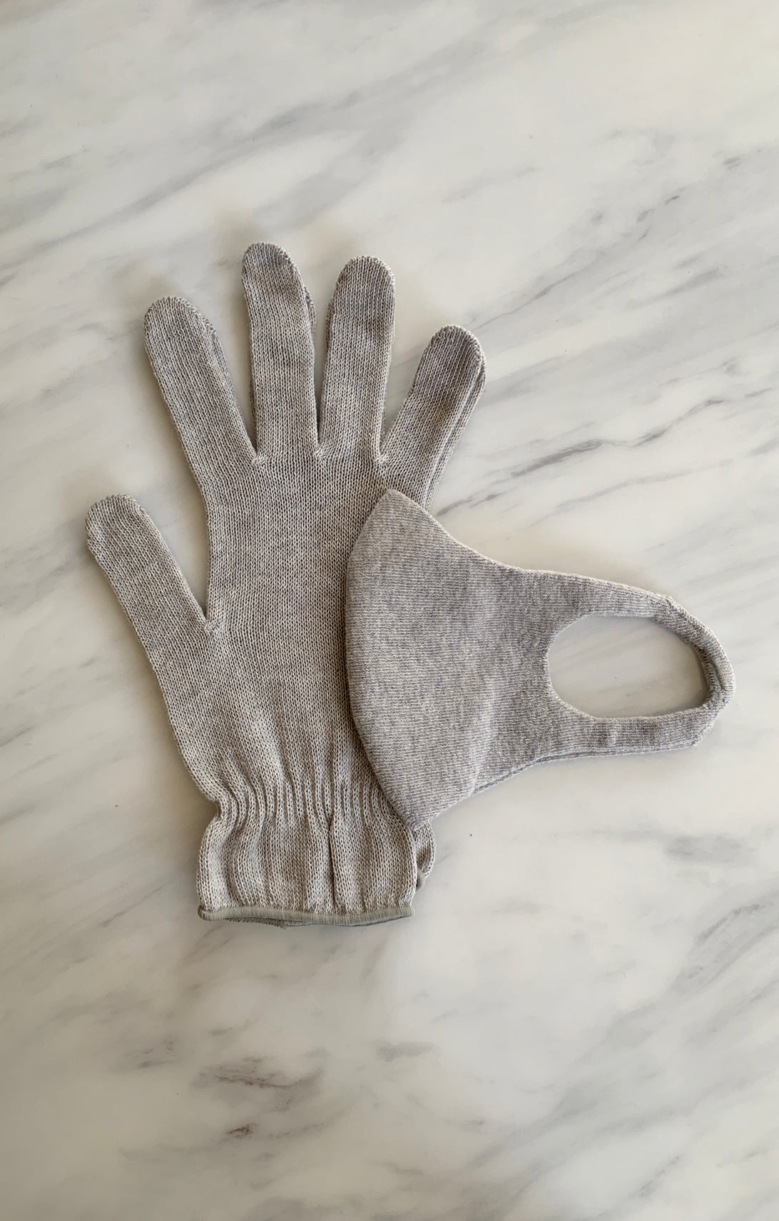 Set of Botanical Dyed Organic Cotton FACE MASK & Gloves