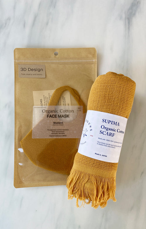 Set of Organic Cotton Mask & Scarf