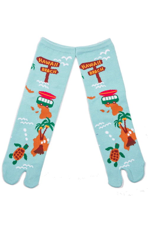 HAWAII MAP TABI SOCKS FLIP FLOP SOCKS MADE IN JAPAN
