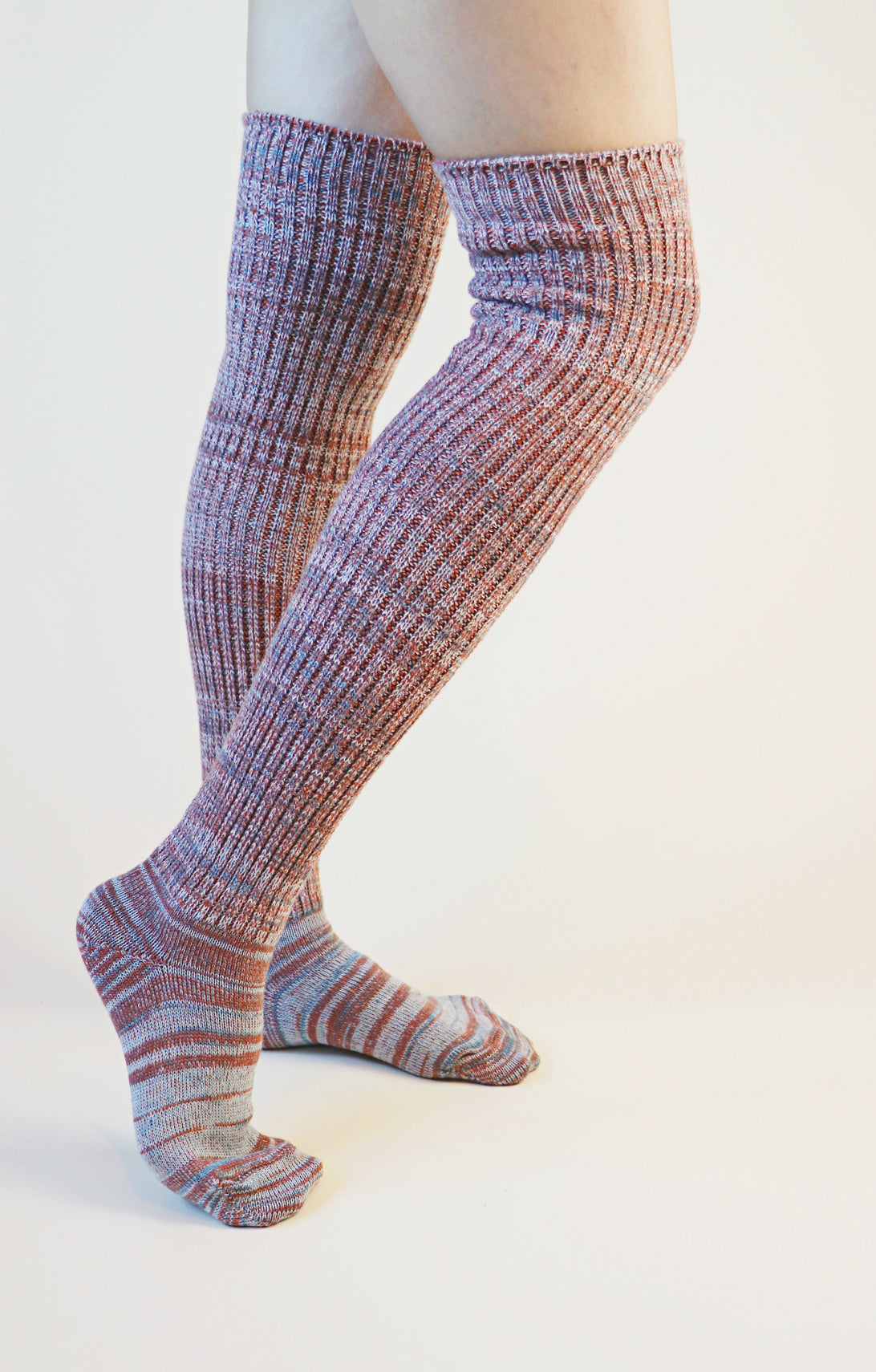 STAY HOME SOCKS l SCRUNCHY OVER THE KNEE SOCKS l WOOL BLEND