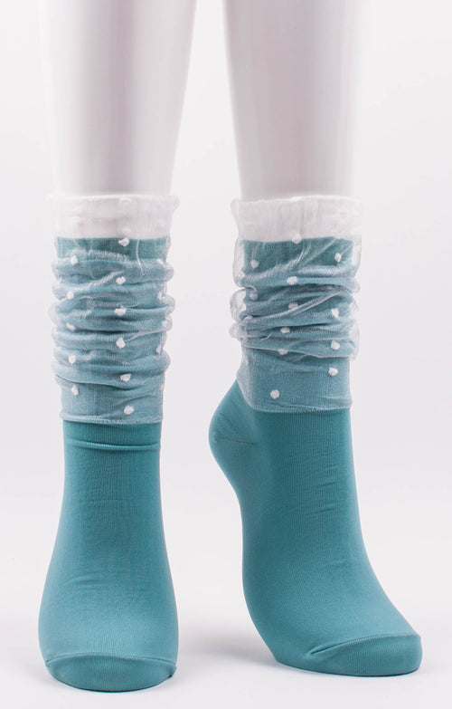 DOTS IN VEIL SHEER SOCKS