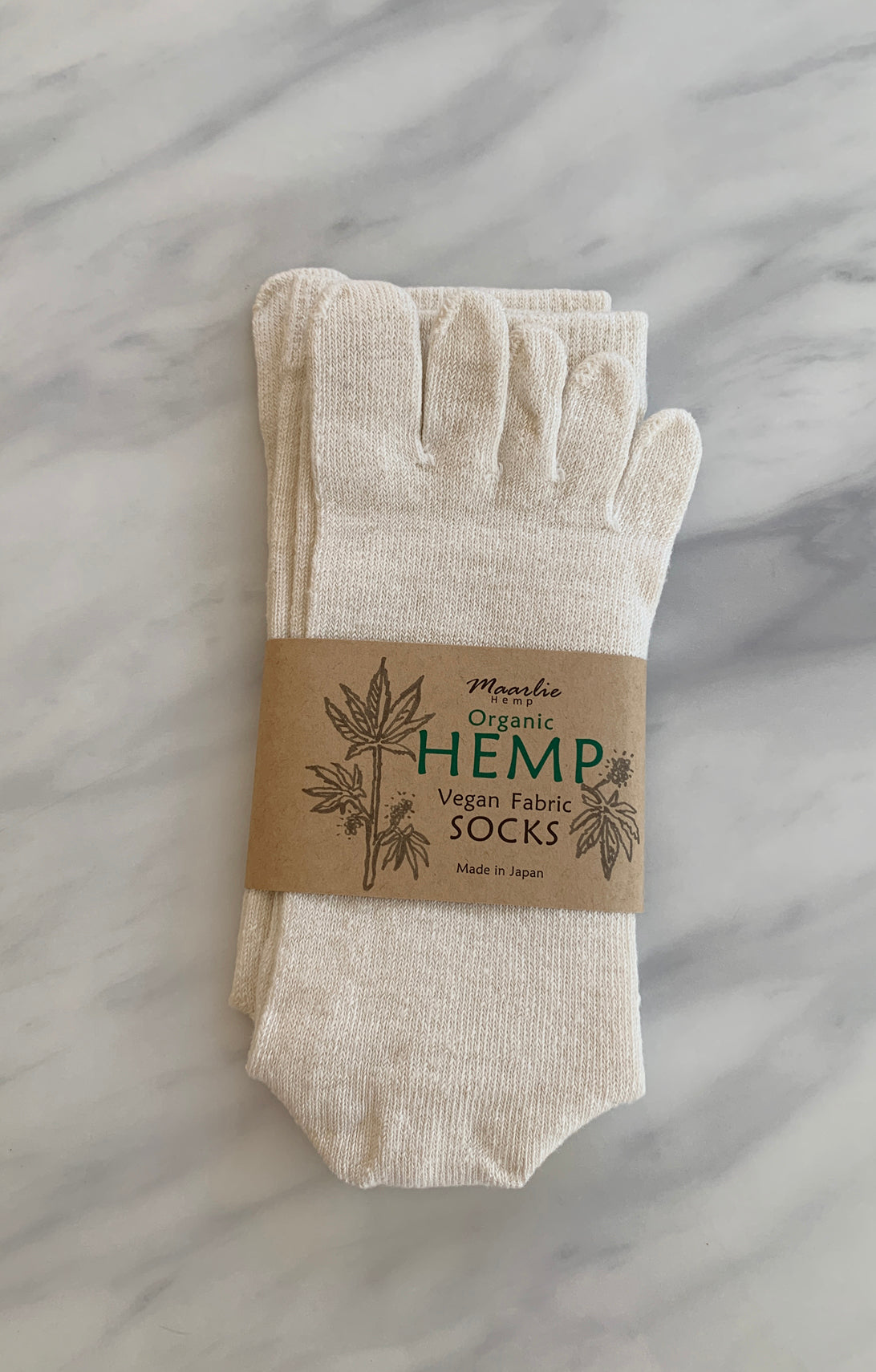 Hemp Meditation Toe Socks