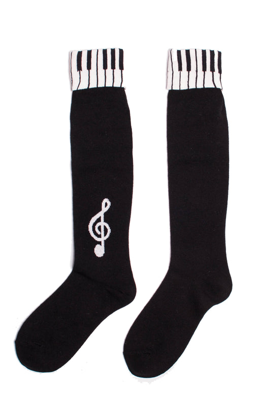 I LOVE MUSIC KNEE HIGH SOCKS l Tabbisocks l Made in JAPAN